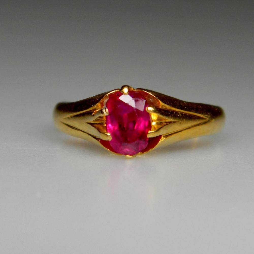 Single Stone Burmese Ruby Ring Db Gems