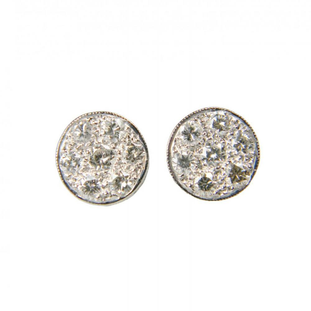 Cool Diamond Cluster Stud Earrings Db Gems