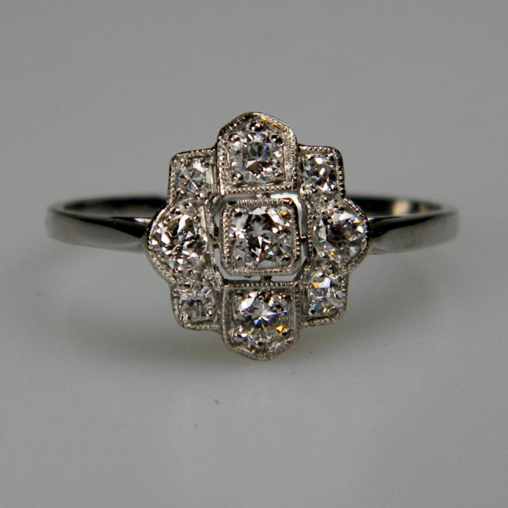 rings diamond ring melissa fed engagement pepper and salt the geometric solitaire antiquarian
