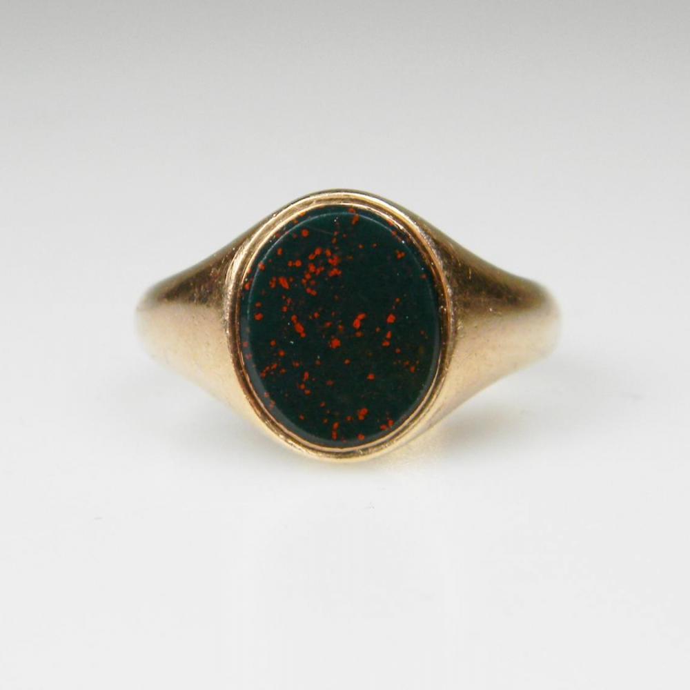Bloodstone Signet Ring | DB Gems