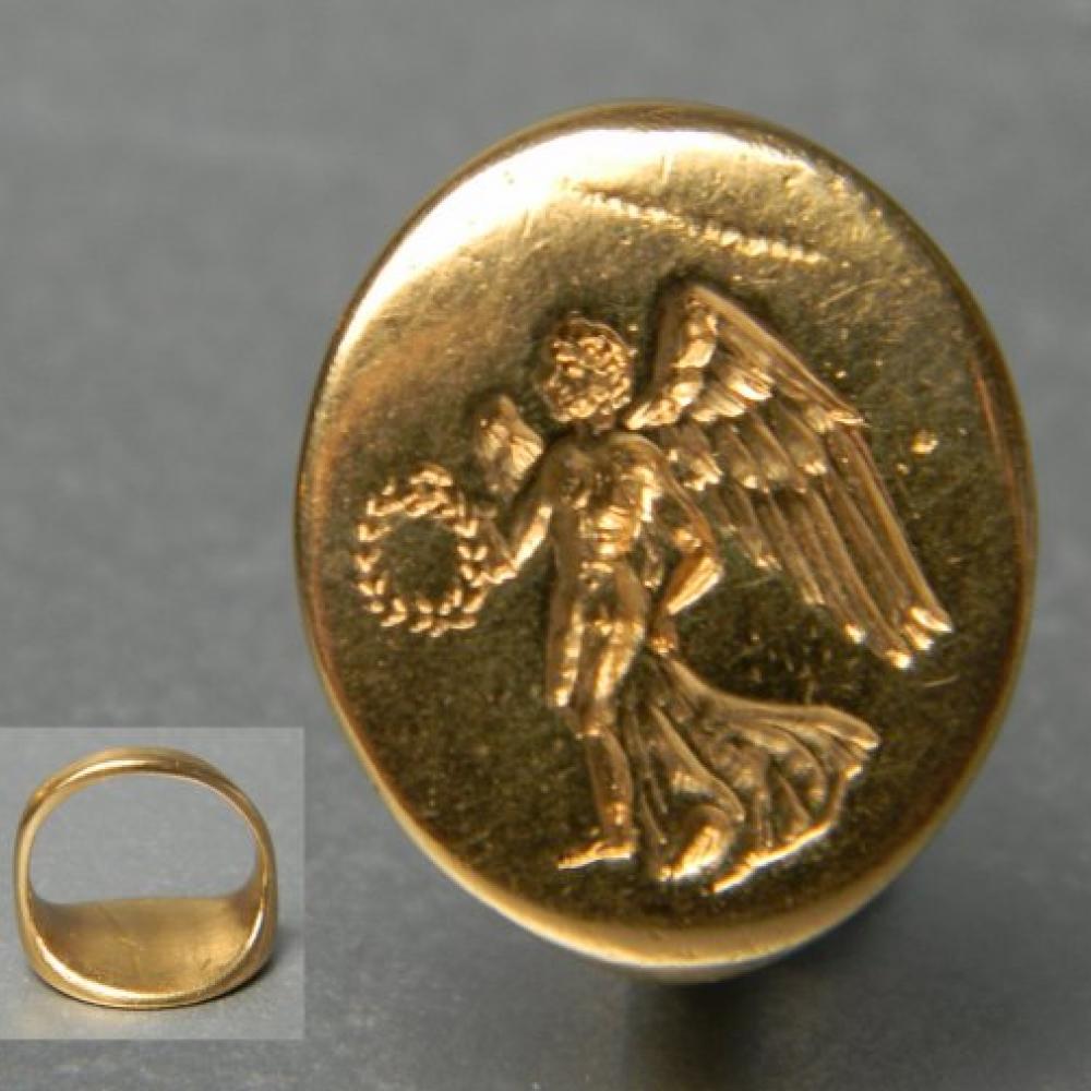 ancient greek signet ring db gems