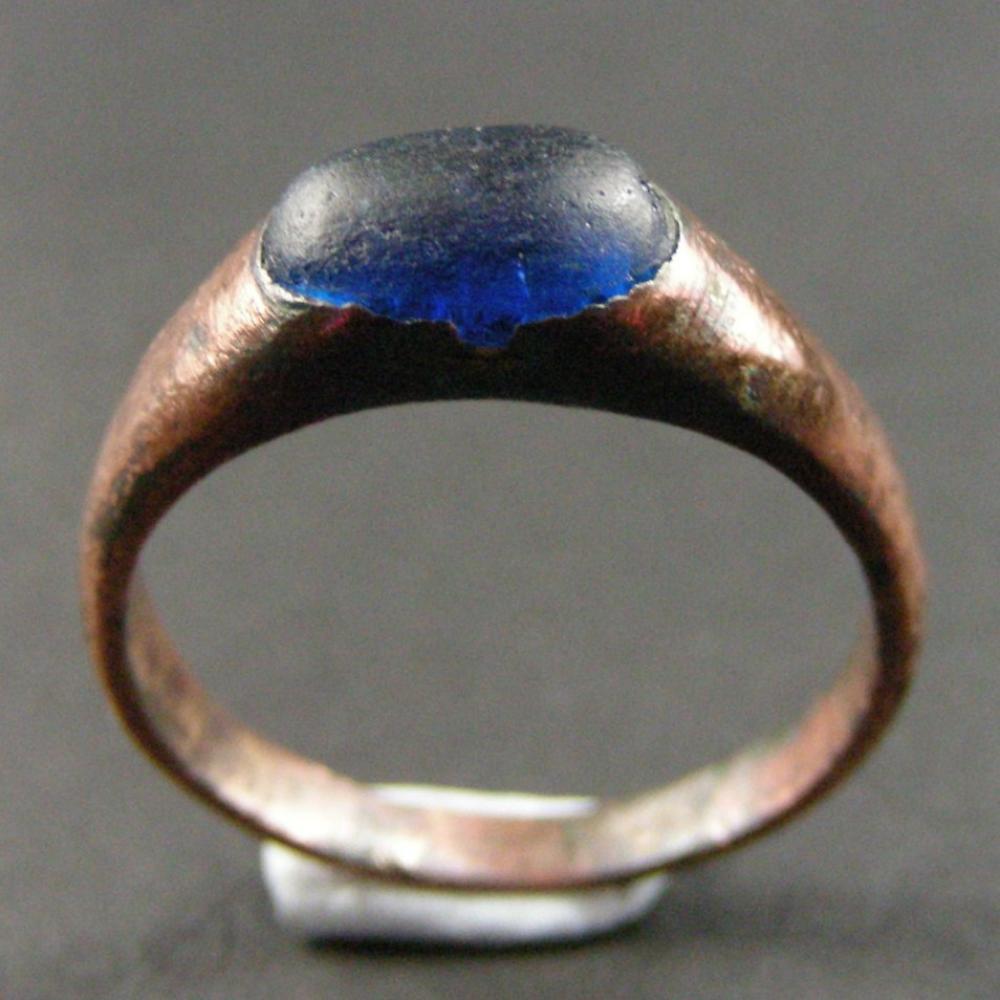 Medieval Styrrup Ring Made Of Blue Paste Amp Copper Db Gems